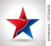American Flag And Eagle Symbol ...