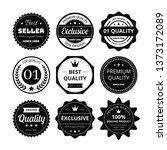 retro label vector | Shutterstock .eps vector #1373172089