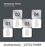 plate metal info graphic... | Shutterstock .eps vector #1373174489
