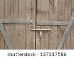 Old Double Wooden Door With...