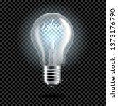 realistic transparent light... | Shutterstock .eps vector #1373176790