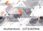 distressed grunge geometric... | Shutterstock .eps vector #1373183966