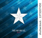 usa memorial day card with... | Shutterstock .eps vector #1373207450