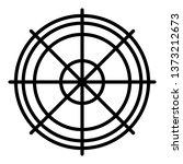 sniper aim icon. outline sniper ... | Shutterstock .eps vector #1373212673
