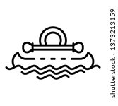 kayak swimming icon. outline... | Shutterstock .eps vector #1373213159