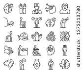 alzheimers disease icons set.... | Shutterstock .eps vector #1373213780