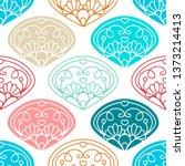vector seamless pattern. damask ...   Shutterstock .eps vector #1373214413