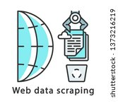 Web Data Scraping Color Icon....