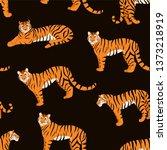 trendy tiger pattern. vector...   Shutterstock .eps vector #1373218919