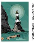 Sea Landscape With A Lighthous...