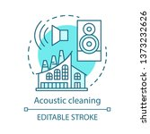 acoustic cleaning concept icon. ... | Shutterstock .eps vector #1373232626