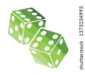 craps dice icon. flat color... | Shutterstock .eps vector #1373234993