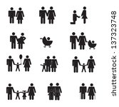 family icons | Shutterstock .eps vector #137323748