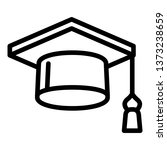 square academic cap icon.... | Shutterstock .eps vector #1373238659