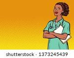 african nurse. medicine and... | Shutterstock . vector #1373245439