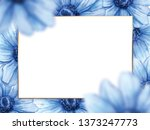 hand drawn watercolor frame ... | Shutterstock . vector #1373247773