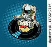 astronaut man meditates to... | Shutterstock . vector #1373247869