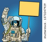 Astronaut With Gag Protesting...