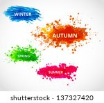set of season vector... | Shutterstock .eps vector #137327420