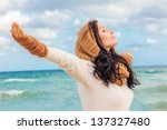 happy life breathing deep | Shutterstock . vector #137327480