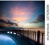 Beautiful Sunset With A Bridge...