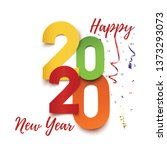 happy new year 2020. abstract...   Shutterstock .eps vector #1373293073
