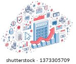 calculator with earnings growth ... | Shutterstock .eps vector #1373305709