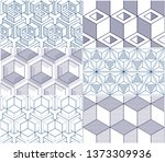 geometric cubes abstract... | Shutterstock .eps vector #1373309936