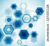 abstract hexagonal background. ... | Shutterstock .eps vector #137331128