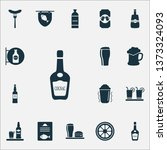 alcohol icons set with cognac ... | Shutterstock .eps vector #1373324093
