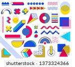 set of memphis design elements. ... | Shutterstock .eps vector #1373324366