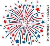 colorful firework on black... | Shutterstock .eps vector #137332826