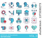 artificial intelligence icons... | Shutterstock .eps vector #1373330273