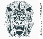head lion zentangle | Shutterstock .eps vector #1373331629