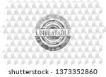 unbeatable grey emblem with... | Shutterstock .eps vector #1373352860