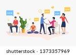 people working in modern office.... | Shutterstock .eps vector #1373357969
