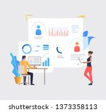 business people working on...   Shutterstock .eps vector #1373358113