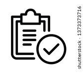 modern tick document icon