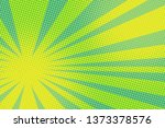 green yellow pop art background.... | Shutterstock . vector #1373378576