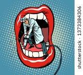 dentist jackhammer drilling... | Shutterstock . vector #1373384306