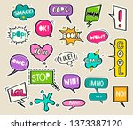 set of bright stickers in the... | Shutterstock .eps vector #1373387120