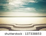 mosaic on copacabana beach in... | Shutterstock . vector #137338853