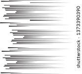 speed lines in arrow form .... | Shutterstock .eps vector #1373390390
