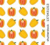 vegetables pepper seamless... | Shutterstock .eps vector #1373431313