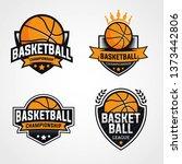 basketball championship logo ... | Shutterstock .eps vector #1373442806