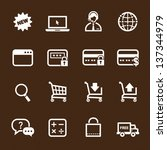 shopping online icons with... | Shutterstock .eps vector #137344979