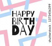 happy birthday vector... | Shutterstock .eps vector #1373456399