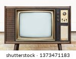 retro  old television stands... | Shutterstock . vector #1373471183
