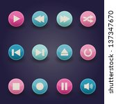 media player buttons collection ... | Shutterstock .eps vector #137347670