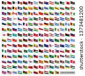 wavy worldwide national flags... | Shutterstock .eps vector #1373481200